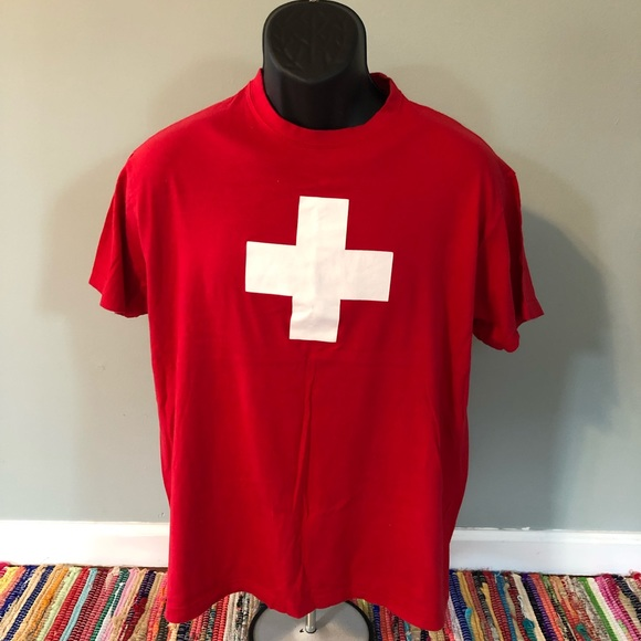 Vintage Other - Swiss Cross Flag Shirt Switzerland Army Knife Tee